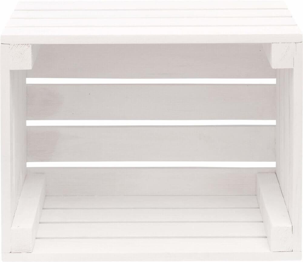 biała skrzynka drewniana