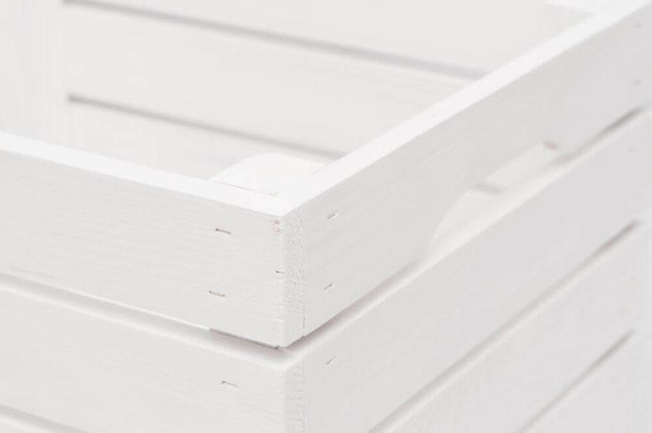 naturalna biała skrzynia drewniana