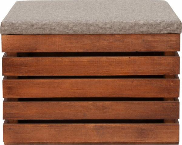 wyposażenie nowoczesnego domu - drewniana skrzynka