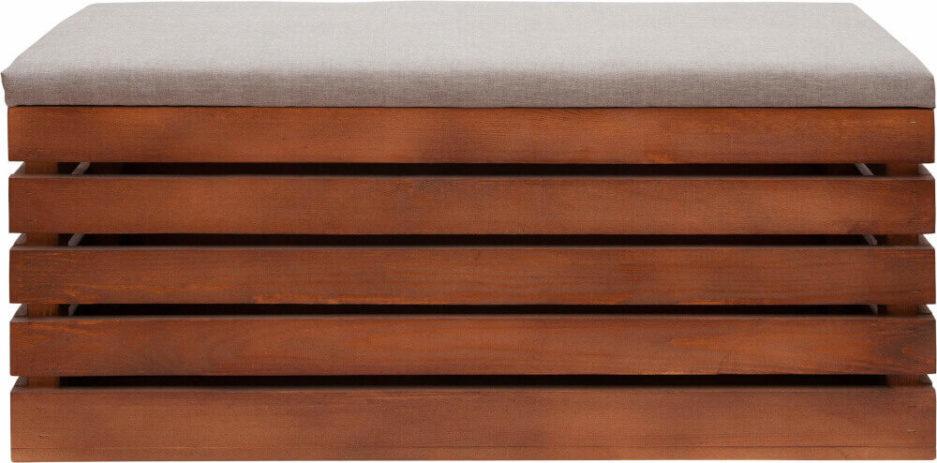 skrzynka drewniana bejcowana widok przód