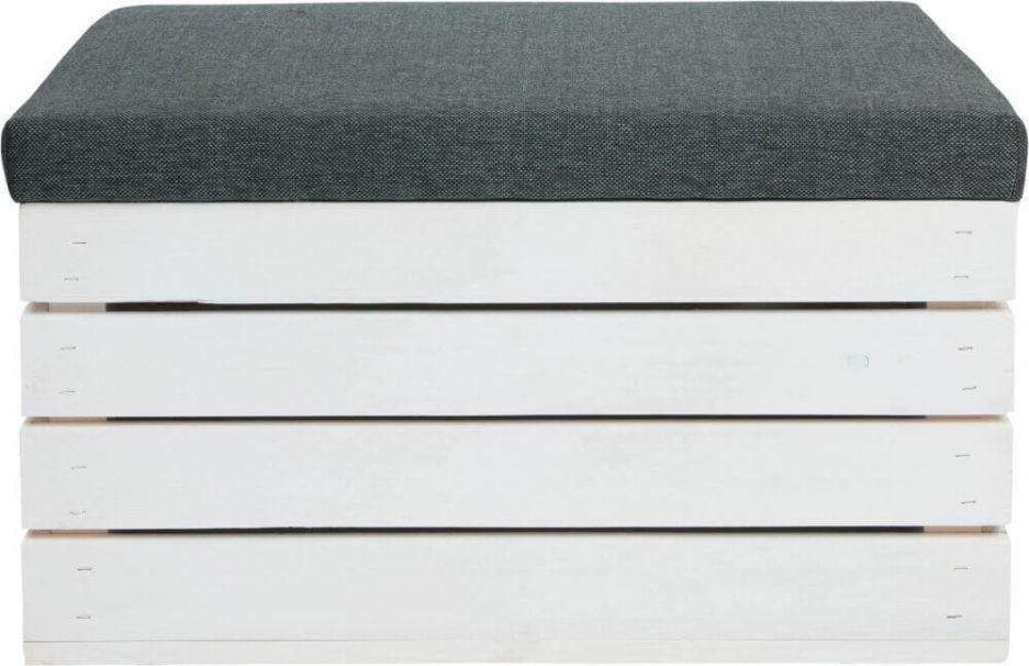 wygodna tapicerowana skrzynia drewniana