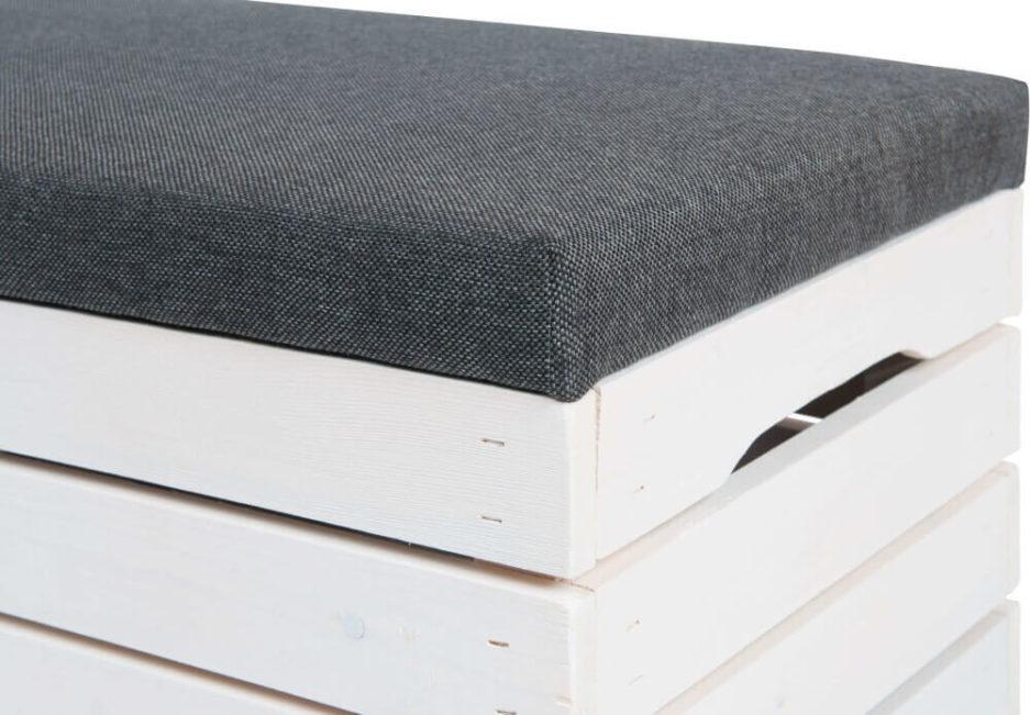 pomysł na wyposażenie domu - tapicerowana skrzynka