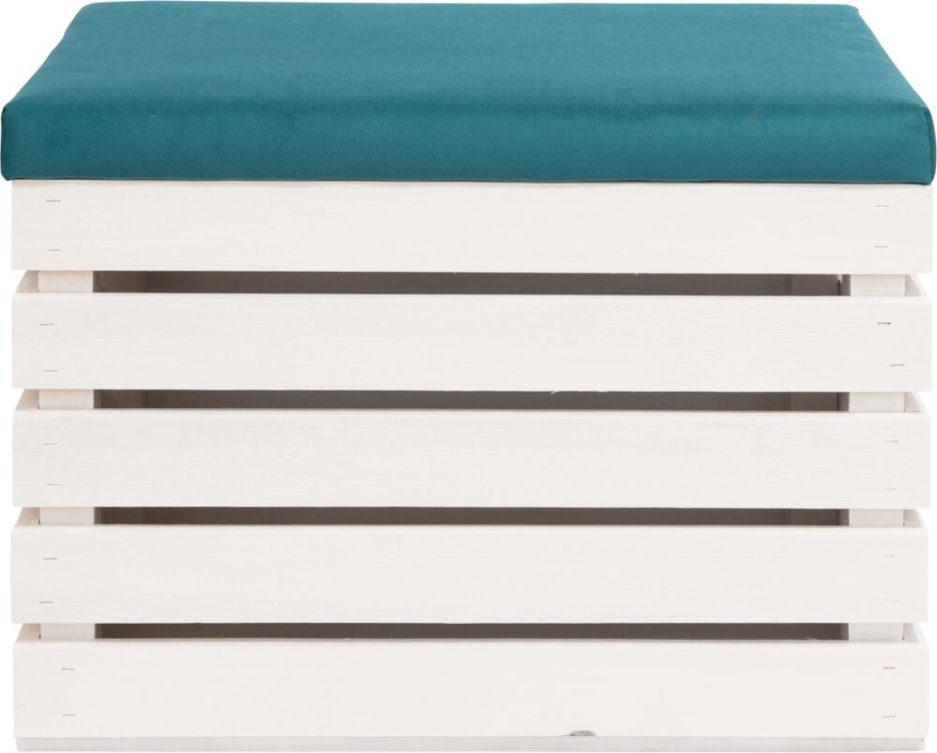 biała skrzynka tapicerowana - pomysł na nietypowy prezent