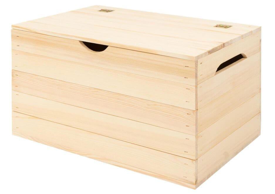 Drewniany kufer - całkowicie zbudowana skrzynka